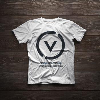 Белая футболка с большим логотипом Проект Венера